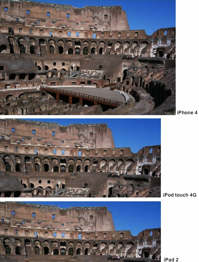 la fotocamera dell'iPad 2