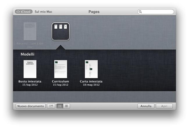 Mountain Lion Integrazione iCloud