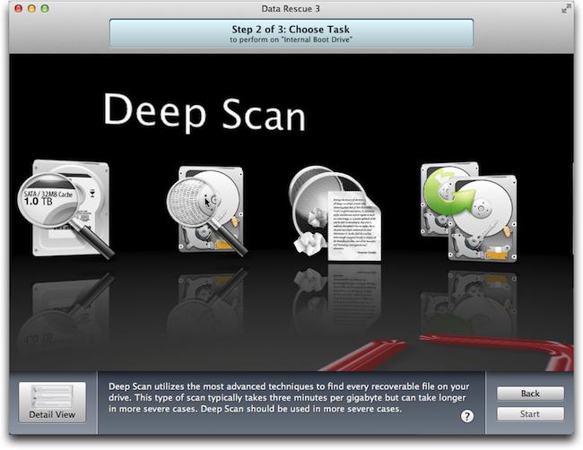 Data Rescue Deep scan