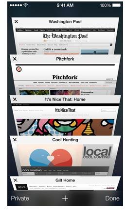 Safari tab iOS 7