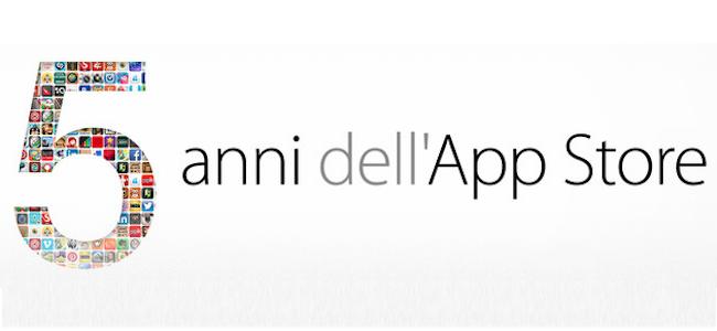 5 anni App Store regalo